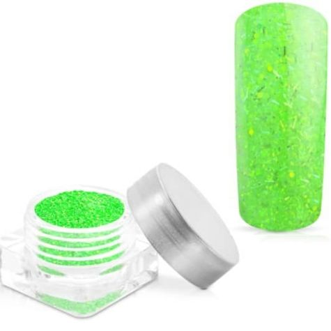 Paillettes nail art vert fluo