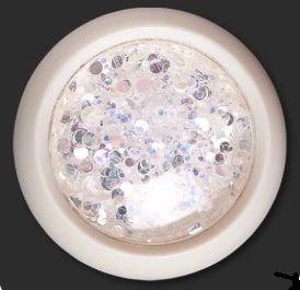 paillette laser blanc