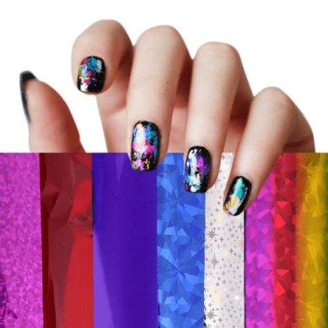 lot de 12 foils nail art