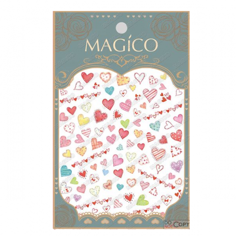 sticker ongle coeur
