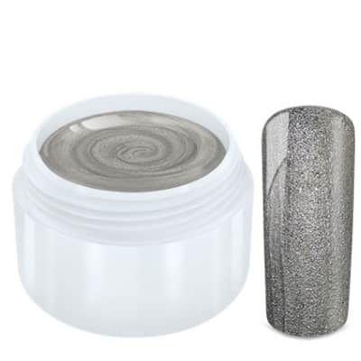 gel gris clair pailletté