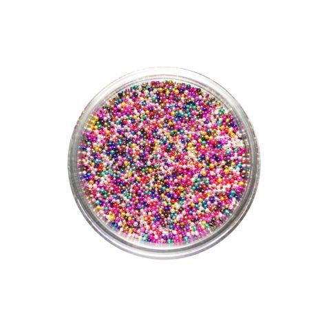 Pot de micro-perles multicolores 10 grammes ou manucure vernis caviar MJ - Nail art