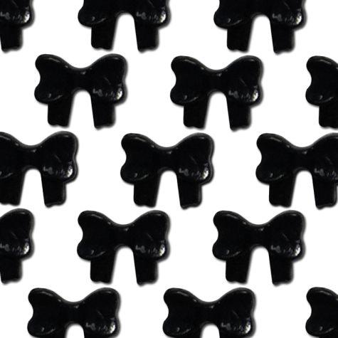 Sachet de 50 noeuds sequins nail art-noir