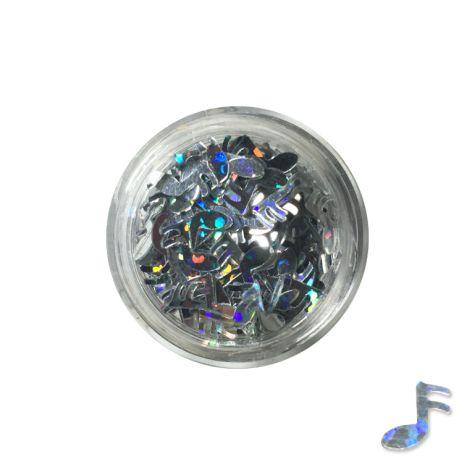 Pot de bijoux NOTES décoration des ongles - argenté