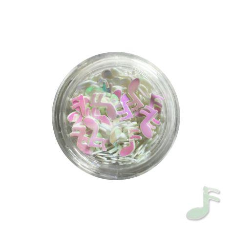 Pot de bijoux NOTES décoration des ongles - blanc