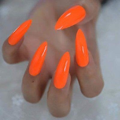 vernis autocollant orange fluo