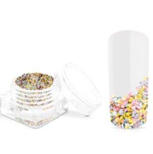 confetti cuivre, or rose et silver