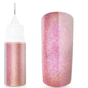 flacon de paillette hologramme rose doux