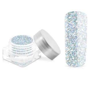 paillette hologramme gris bleu