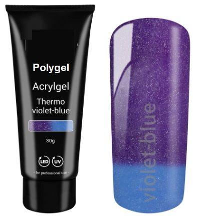 polygel thermo  bleu violet blue