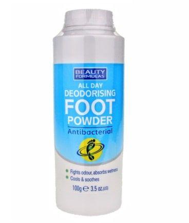 pied poudre déodorante et antiactérienne
