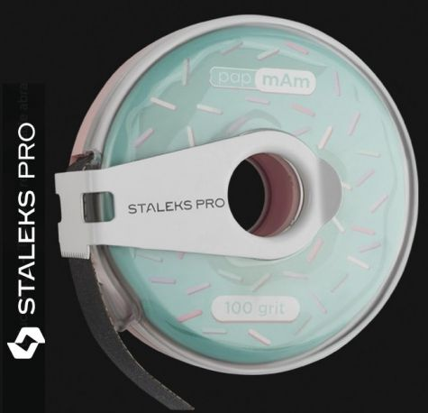 Staleks  Pro Rouleau abrasifs 100 avec distributeur