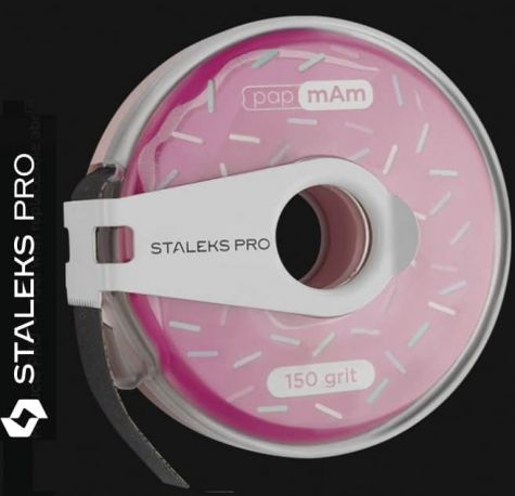 Distristruteur avec  abrasifs en rouleau 150 Staleks  Pro