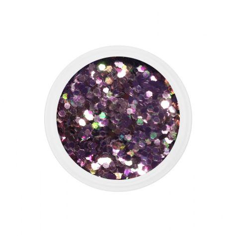 Chuncky glitter dots mix bling bling nail art manucure ongles gel UV french-rosé