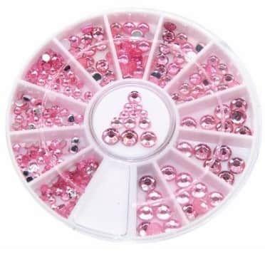 roue de strass roses