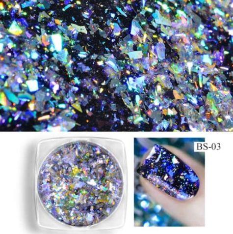 Nail art Sequin AURORA Violet