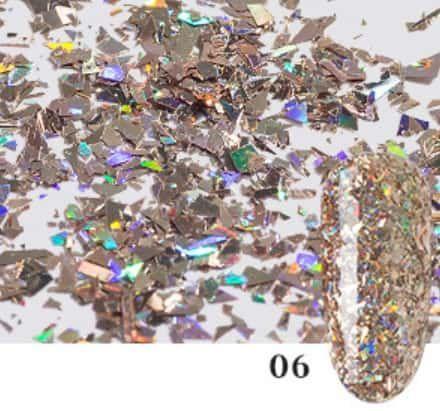 Confetti sequin ongle pyrite