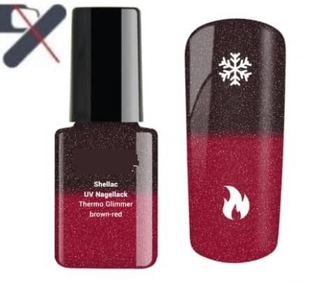 paillette shellac thermo brown red