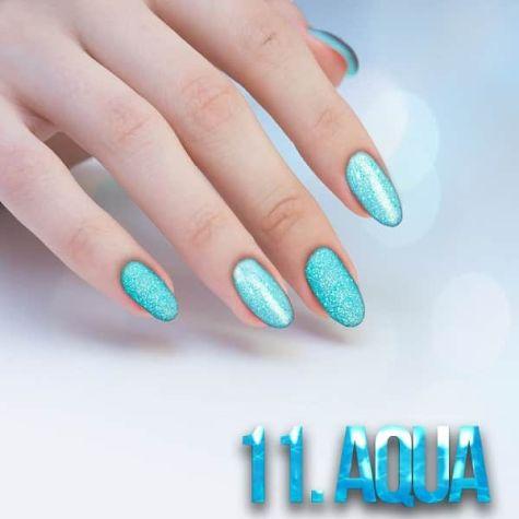 Nail art Aqua Effet quartz