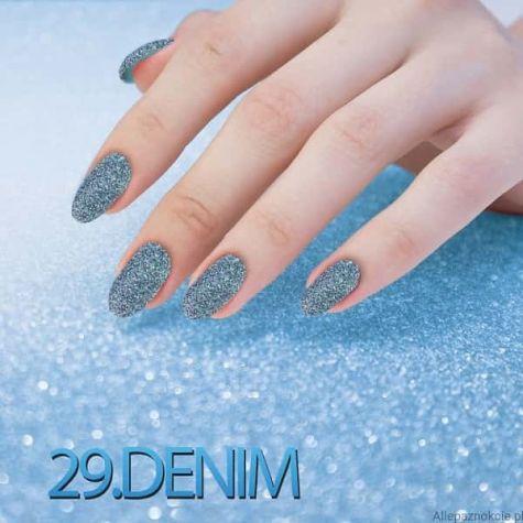 Nail art Denim Effet quartz