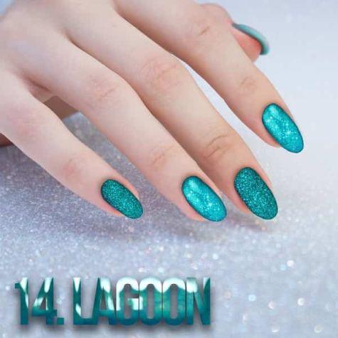 Nail art Lagoon Effet quartz