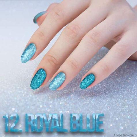 Nail art ROYAL BLUE Effet quartz