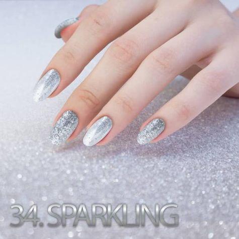 Nail art Sparkling Effet quartz