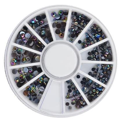 roue de strass moirs à reflets