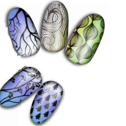 Plaques Stamping nail art