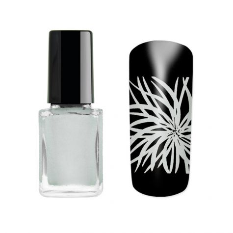 vernis stamping argent pour nail art