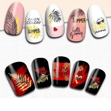 sticker nail art estival