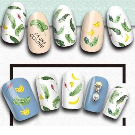 sticker feuille pour ongles
