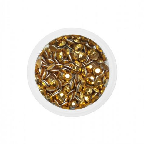 Strass metal dorés 2,5 mm - environ 100 pieces