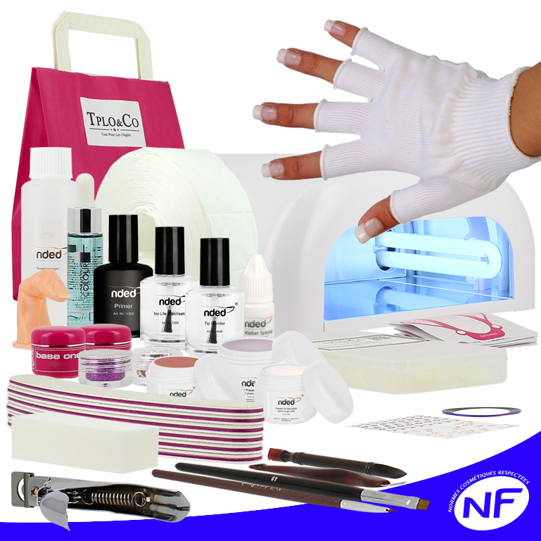 kit faux ongles gel uv