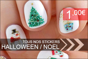 stickers ongles noel