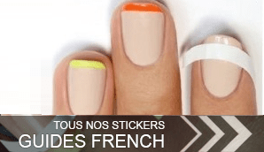 ongles stickers nail french